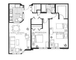 Unit C3 - Wentworth - 2 BR, 947 sq ft