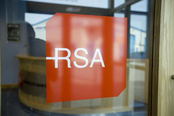RSA on fromt of building