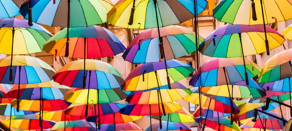 UiPath Pride Twitter rainbow umbrellas1