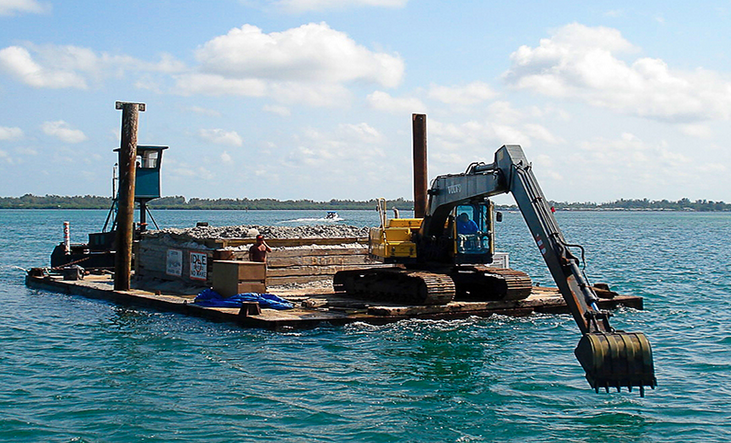 marine contractor dredging in southwest florida