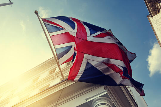 flag of UK on government building-1