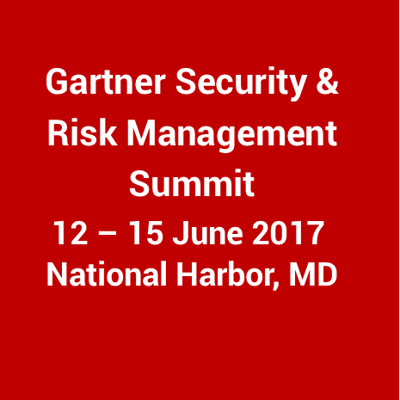 2017 Gartner Security & Risk Management Summit