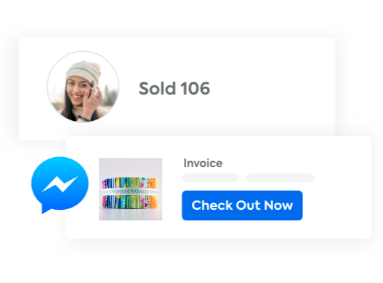 Invoice shoppers automatically when they comment on your posts
