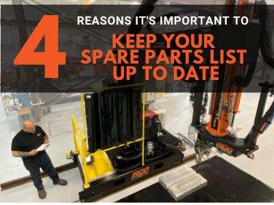 Welding Automation Repairs: 4 Reasons it's important to keep your Spare Parts List up to date