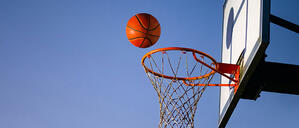 Having fun, playing basketball, and enjoying a simple, yet meaningful volunteer experience