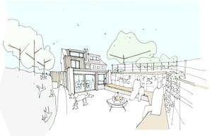 Marraum Architects_Crantock_Full House Renovation_Rear Sketch 01