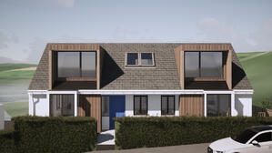 Marraum Architects_Flushing_Full House Renovation_Exterior Render 01