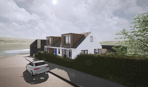 Marraum Architects_Flushing_Full House Renovation_Exterior Render 02
