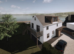 Marraum Architects_Flushing_Full House Renovation_Exterior Render 03
