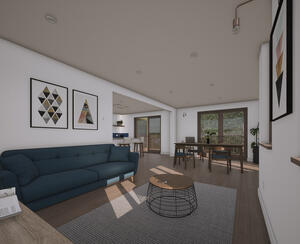 Marraum Architects_Flushing_Full House Renovation_Interior Render 02
