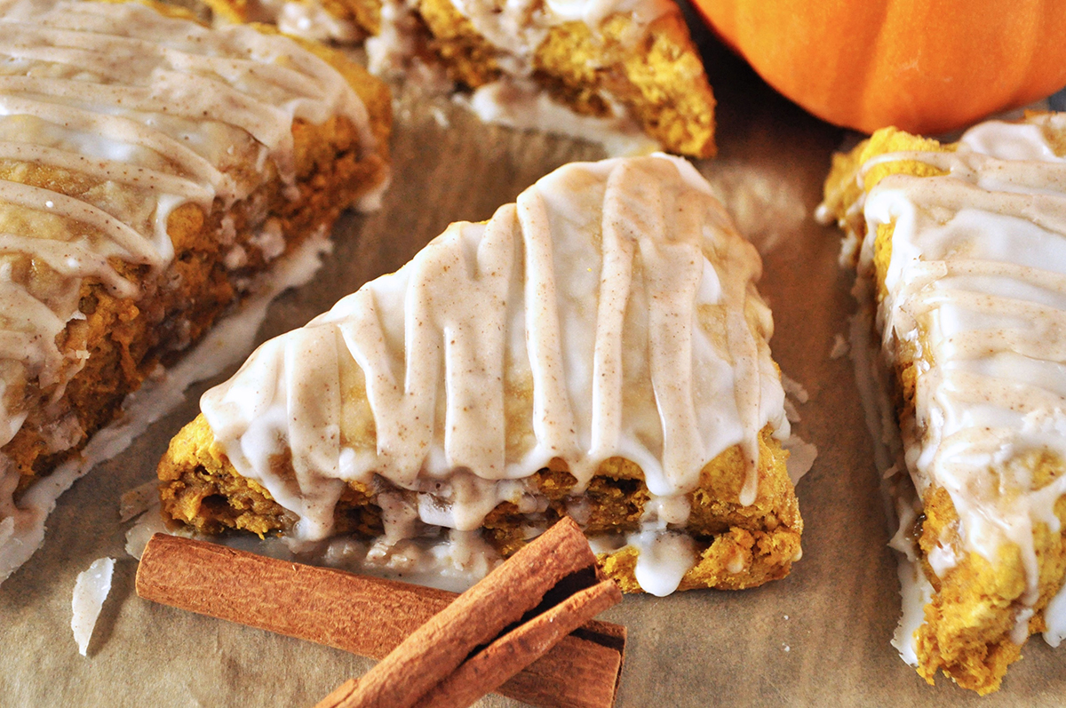 Glazed Pumpkin Scones
