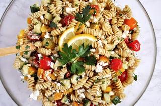 Lemon-Balsamic Pasta Salad