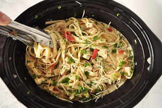 Slow Cooker Cajun Chicken Fettuccine