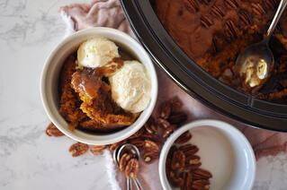 Slow Cooker Pumpkin Pudding Cake