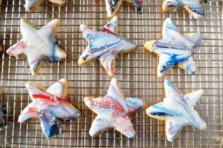 Patriotic Marbled Cookies
