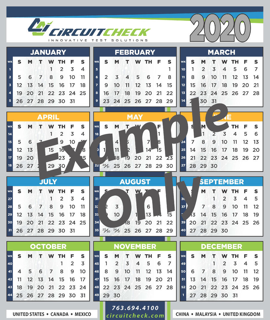 Circuit Check 2021 Calendar Sign Up
