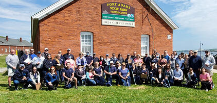 Clean up at Fort Adams
