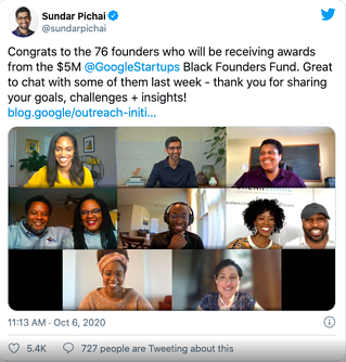 Google Announces Recipients of $5 Million Black Founders Fund Awards