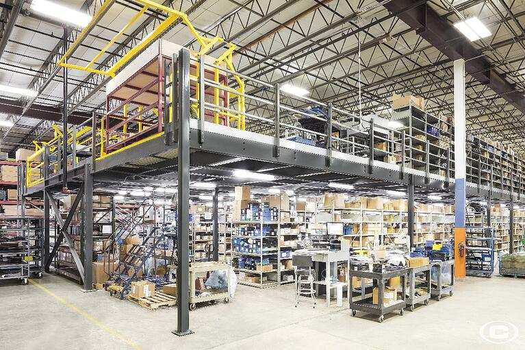 A mezzanine storage area will give you the extra space you need