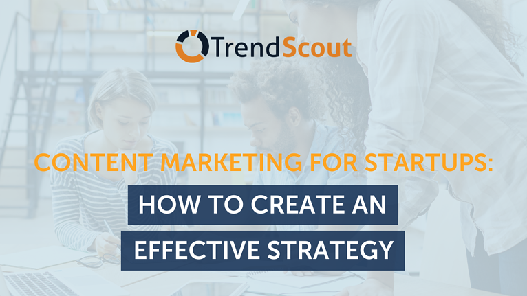 Startup's content marketing featured image