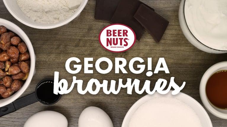 Georgia Brownies with BEER NUTS Recipe