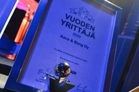 Aava & Bang palkittu Muuramen vuoden yrittäjänä
