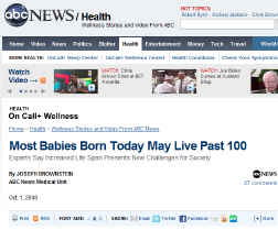 Babies will live 100 Years - ABC News