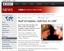 Babies will live 100 years - BBC