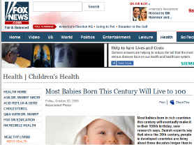 Babies will live 100 Years - Fox