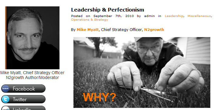 Leadership perfectionism