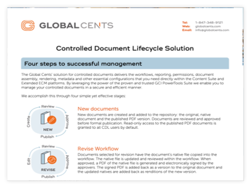 Controlled Document Lifecycle Solution