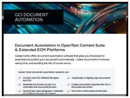Document Automation in OpenText Content Suite & Extended ECM Platforms