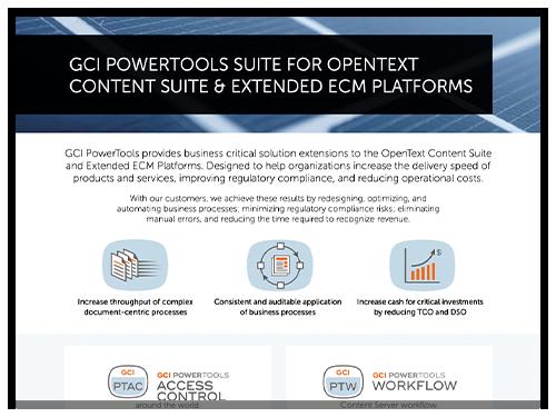 GCI PowerTools for Content Server