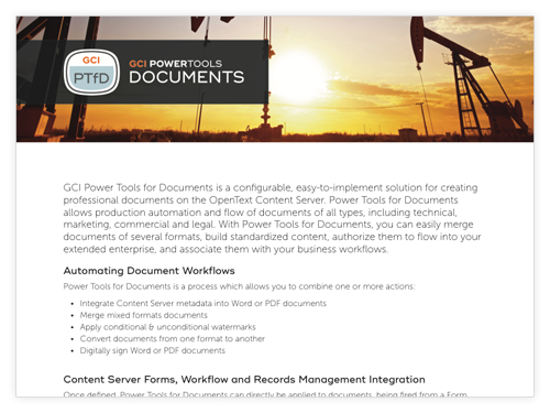 GCI PowerTools for Documents