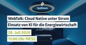 WebTalk: CloudNative unter Strom - Einsatz von KI für die Energiewirtschaft | mit ifesca GmbH