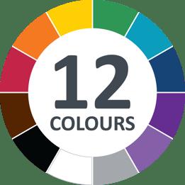 Hillbrush 12 colours