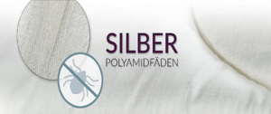 Silver polyamide threads for hygienically healthy sleep