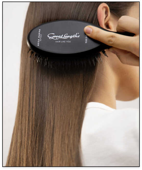 Hair extensions brush