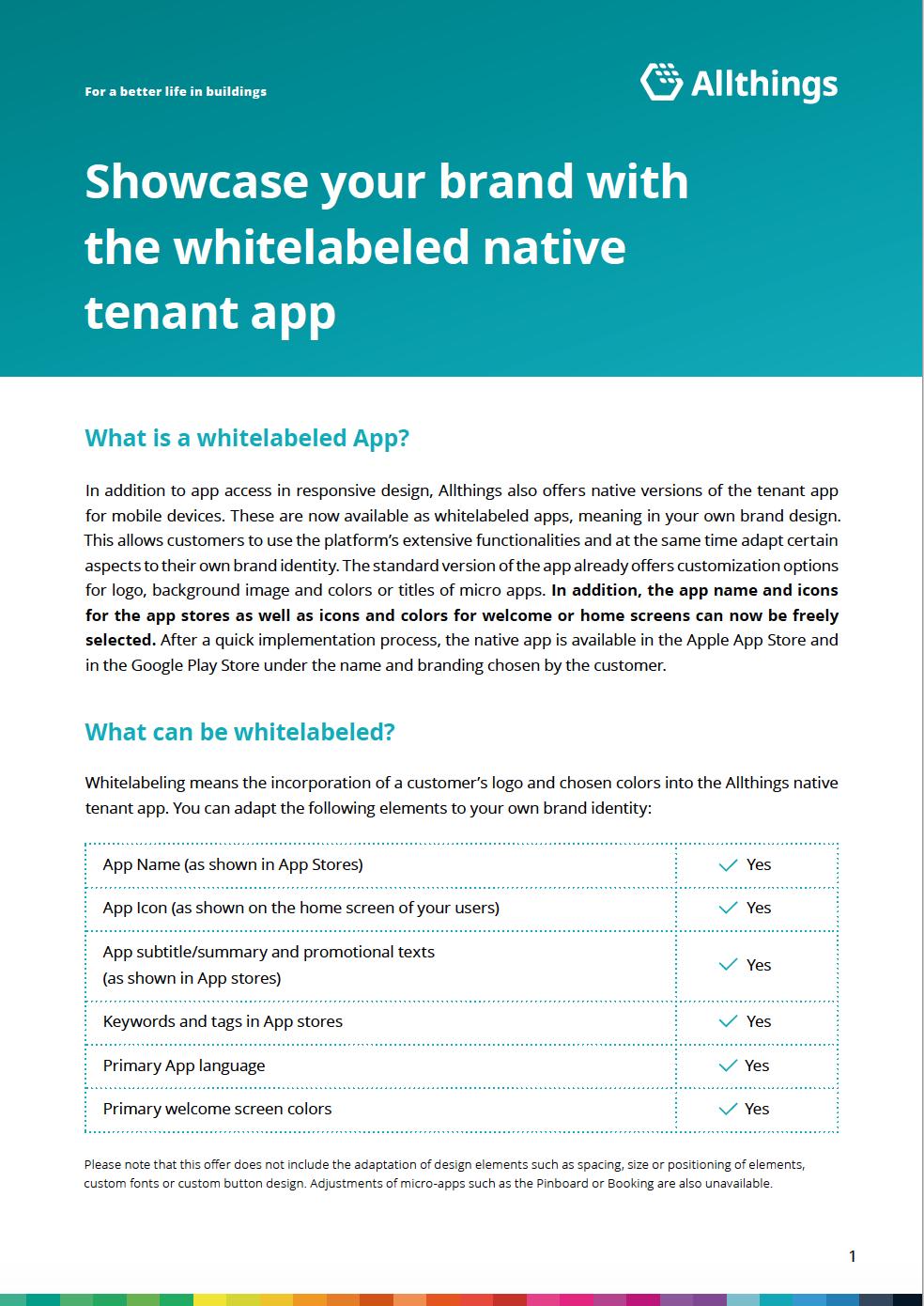 Whitelabeled app