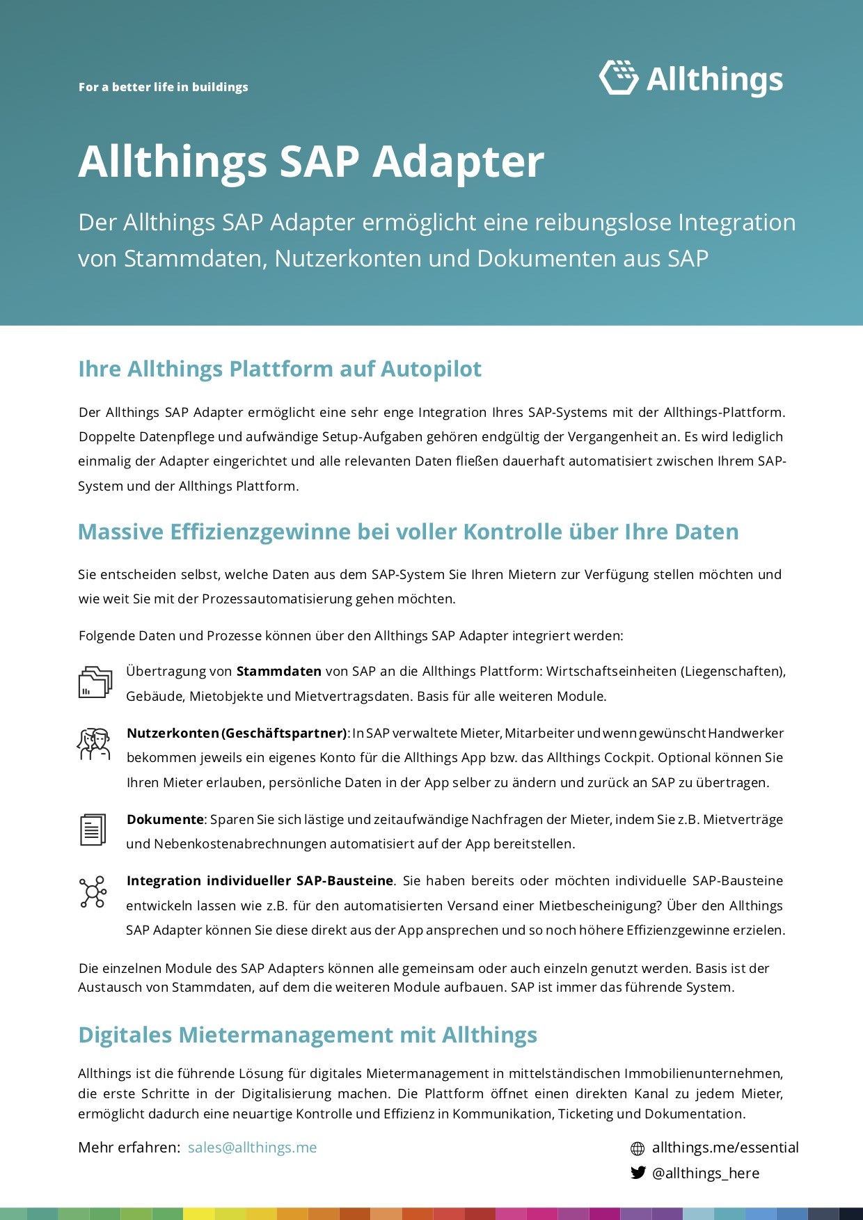 SAP one pager