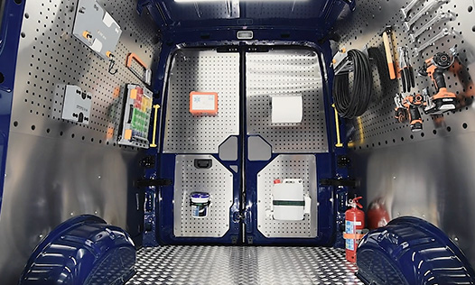 Pianali e pannellature per furgoni Store Van