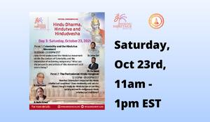 Hindu Dharma, Hindutva and Hindudvesha - Virtual Conference Day 3