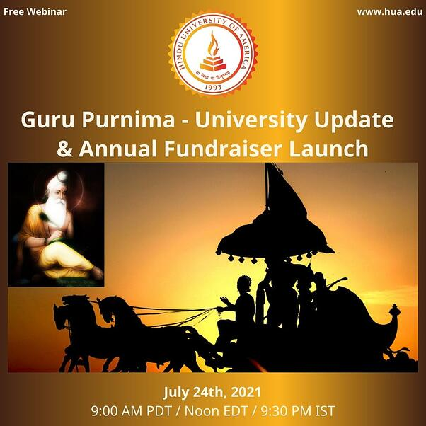 Guru Purnima - University Update and Fundraising Launch