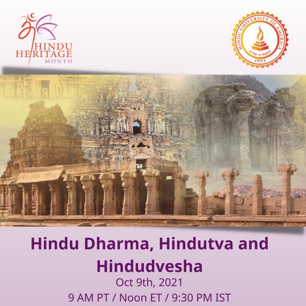 Hindu Dharma, Hindutva and Hindudvesha