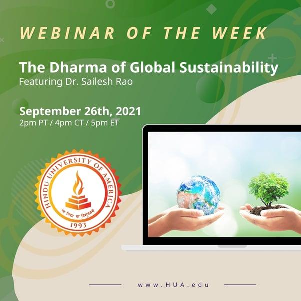 The Dharma of Global Sustainability