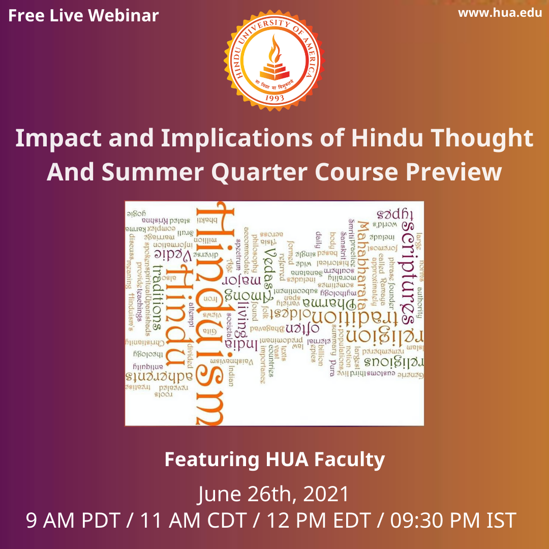 Impact and Implications of Hindu Thought - And Summer Quarter Course Preview