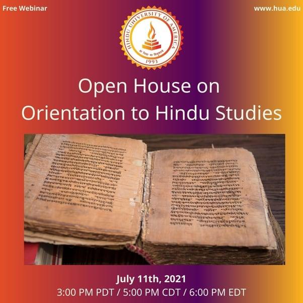 Open House on Orientation to Hindu Studies