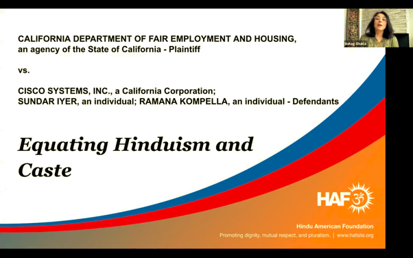 Equating Hinduism and Caste: State of California vs Cisco Systems