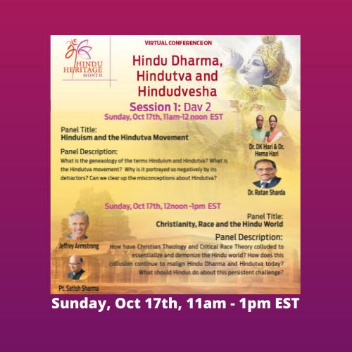 Hindu Dharma, Hindutva and Hindudvesha - Virtual Conference Day 2