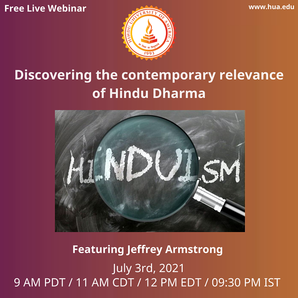 Discovering the Contemporary Relevance of Hindu Dharma